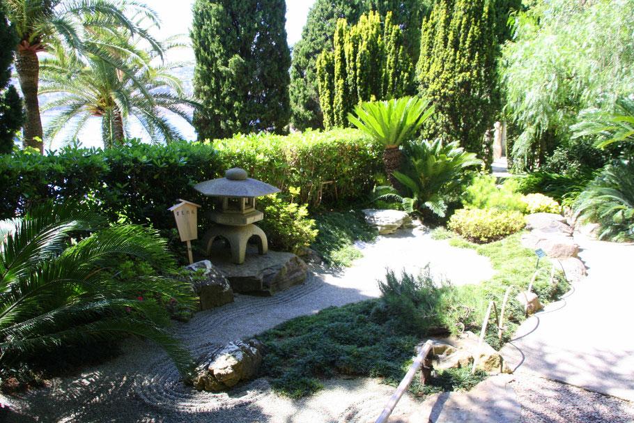 Bild:im japanischen Garten des Musée Ephrussi de Rothschild