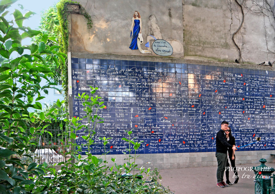 Bild: Le mur des je t´aime in Montmatre, Paris