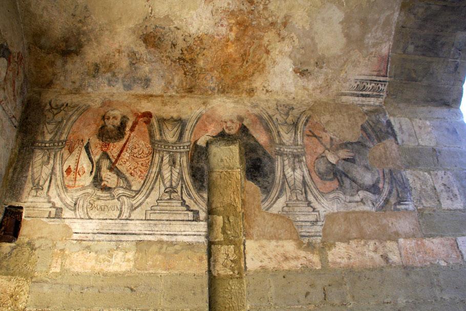 Bild: Fresken in der Porte Saint Gilles, Pernes-les-Fontaines