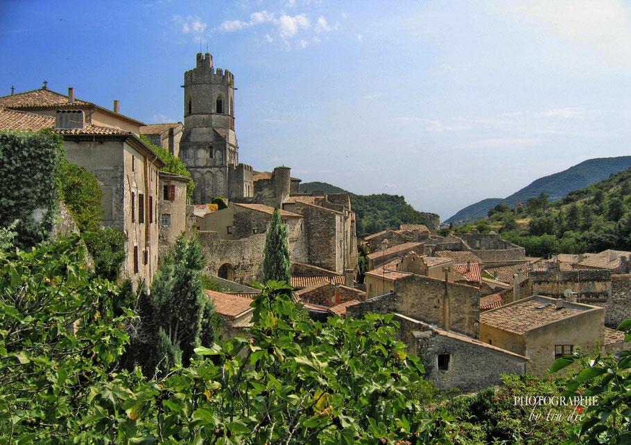 Bild: Blick auf Viviers mit Turm der Cathédrale Saint-Vincent im Deparément Ardèche