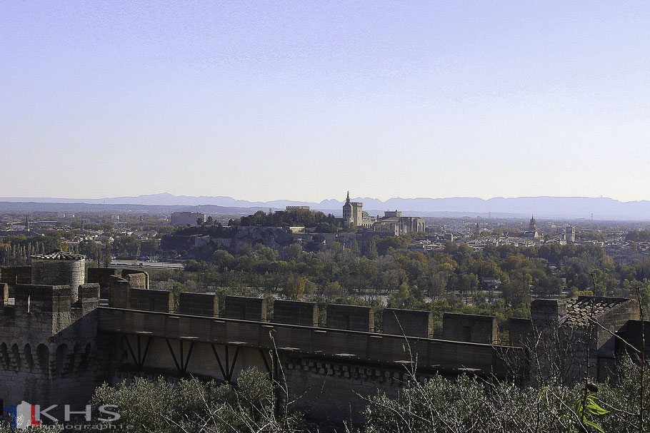 Bild: Blick vom Fort Saint André in Villeneuve-lés-Avignon