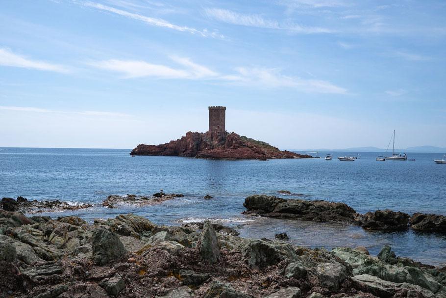 Bild: Blick au die Île d´Or am Cap Dramont,  Massif de l´Estérel