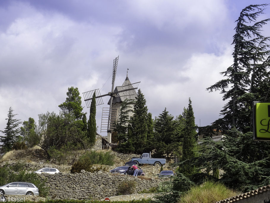 Bild: Die Windmühle in Cucugnan
