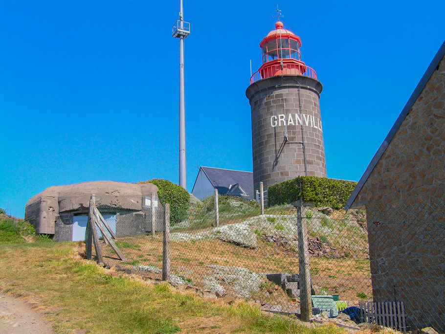 Bild: Der Phare du Cap Lihou in Granville