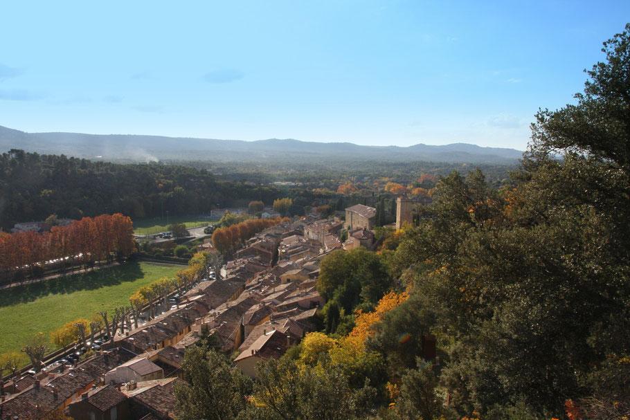 Bild: Blick auf die Dächer von Jouques