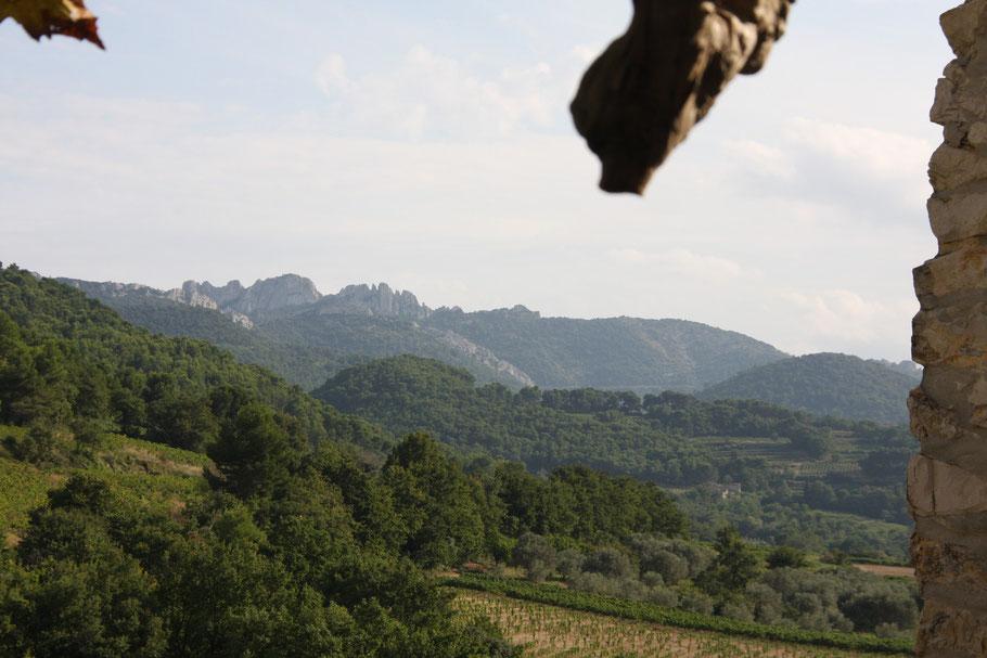 Bild: Blick auf die Dentelles de Montmiraill