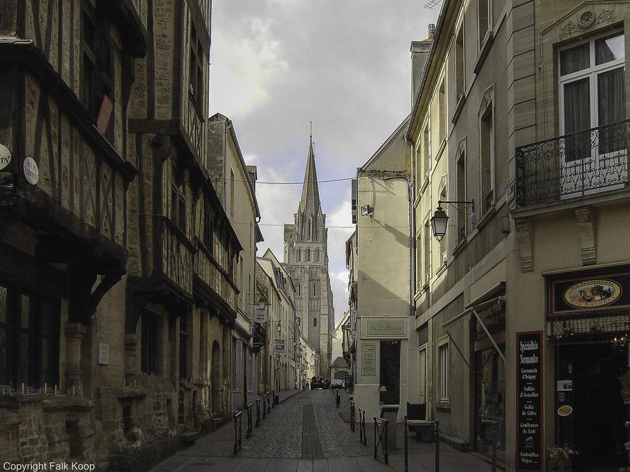 Bild: in der Altstadt von Bayeux, Normandie