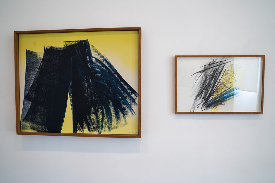 Bild: Bilder von Hans Hartung im Musée Picasso in Antibes