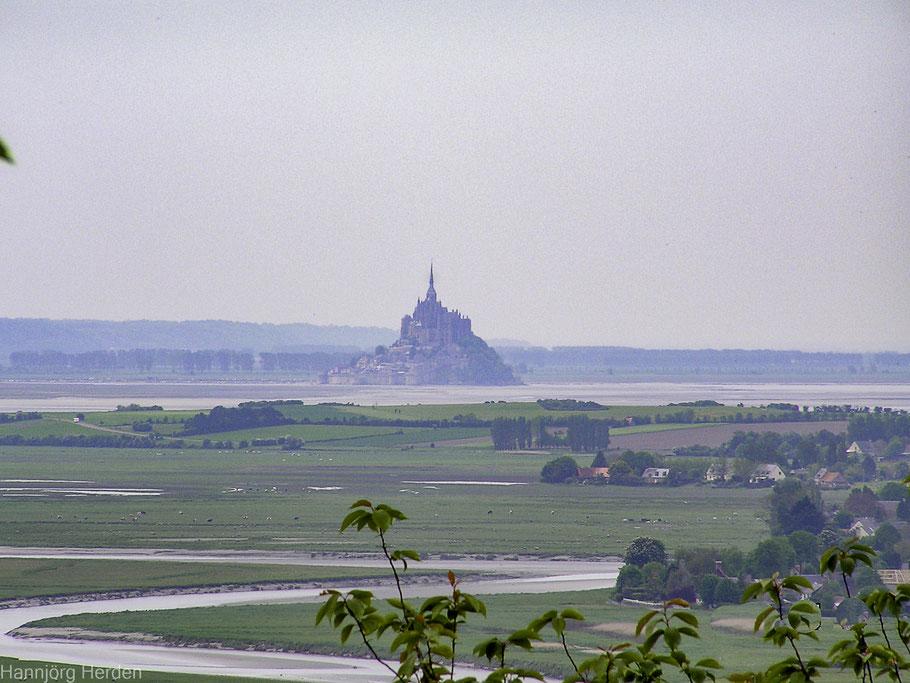 Bild: Blick zum Mont-Saint-Michel von Avranches aus