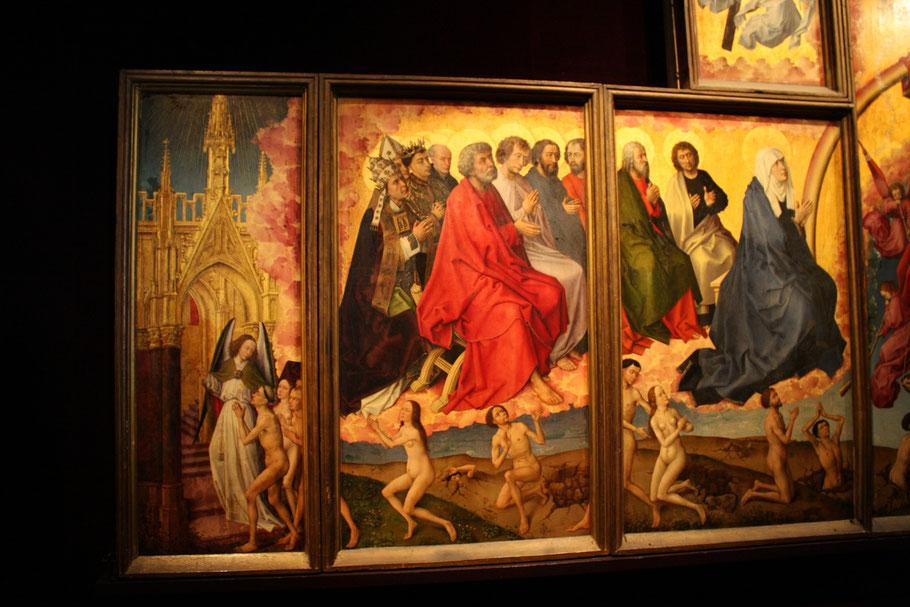 """Bild: Gemälde das """"Jüngste Gericht"""" von van der Weyden im Hospiz von Beaune (Hôtel Dieu)"""