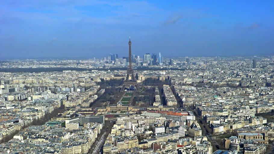 Bild: Blick vom Tour Montparnasse auf den Eiffelturm