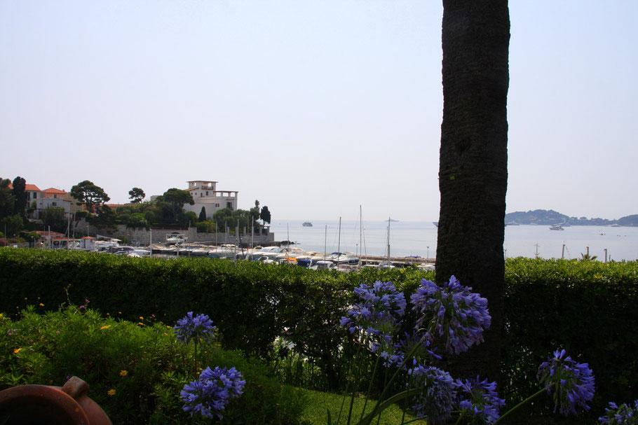 Bild: Der kleiner Hafen in der Ameisenbuchtvon Beaulieu-sur-Mer mit Villa Kérylos.