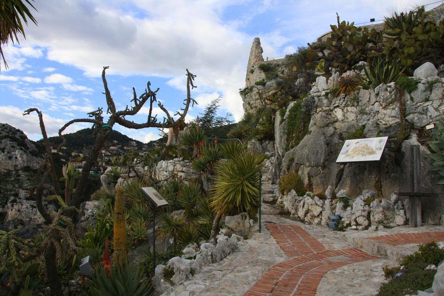 Bild: Am Eingang zum exotischen Garten in Èze
