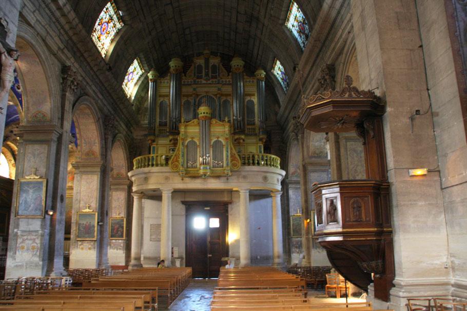 Bild: die Orgel von St-Martin in St-Rémy-de-Provence