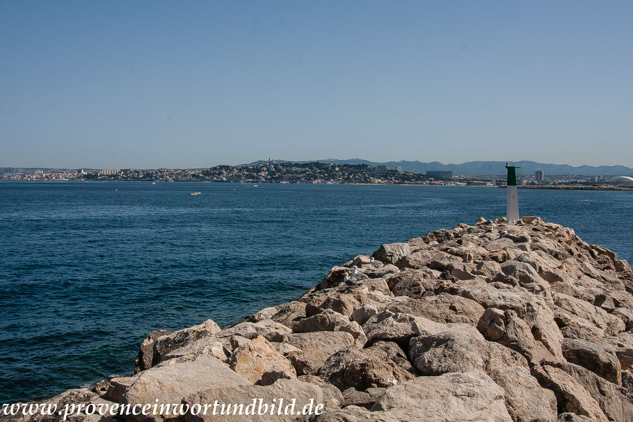 Bild: Blick von La Madrague auf Marseille
