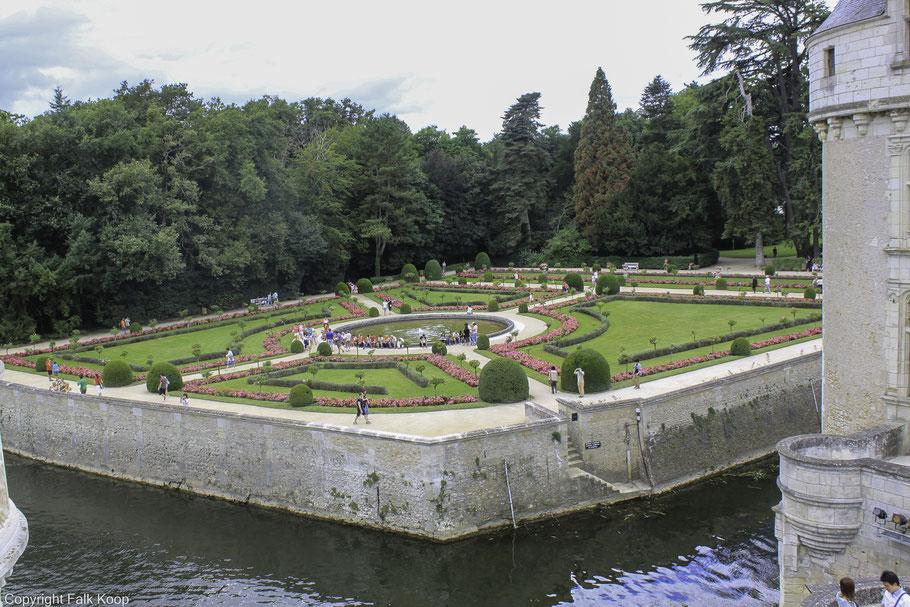 Bild: Château Chenonceau, die Gärten