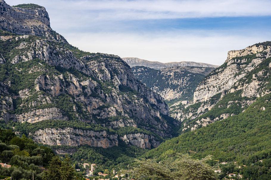 Bild: Blick in die Gorges du Loup von Le Bar-sur-Loup