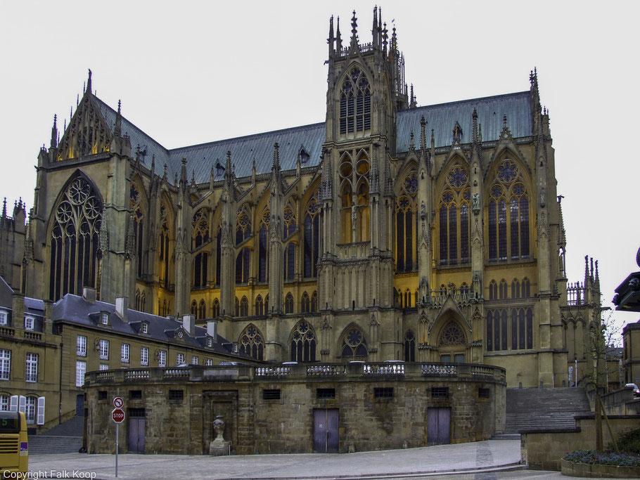 Bild: gotische Kathedrale Saint-Étienne de Metz in Metz, Frankreich