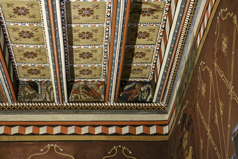 Bild: Decke in der Wohnung des Abtes der Abbaye de Saint-Hilaire