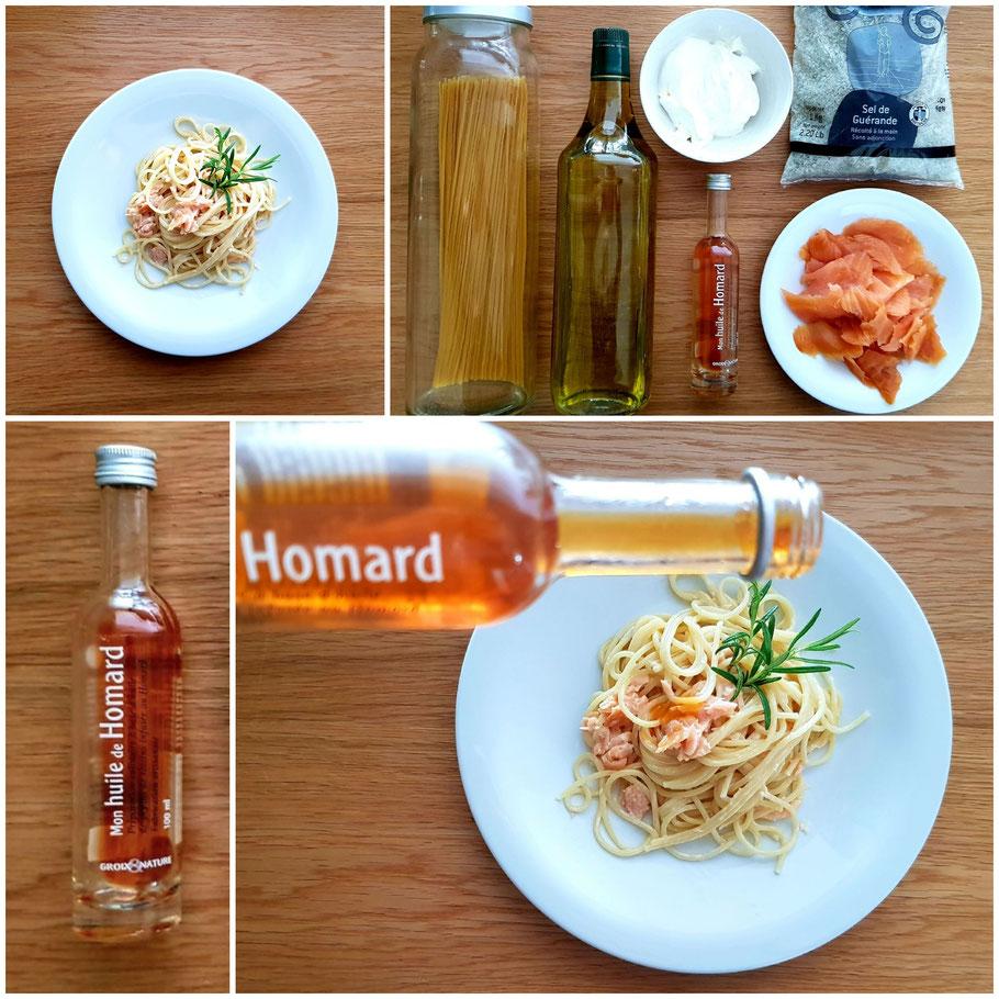 Bild: Rezept von Pasta Saumon avev huile de homard