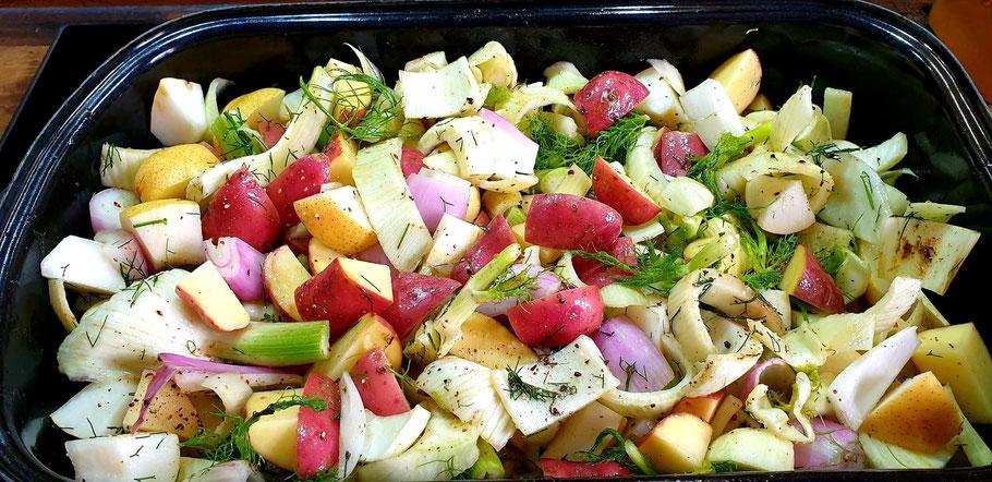 Bild: Rezept für Herbstliches Ofengemüse mit Pastis und wildem Fenchelkraut