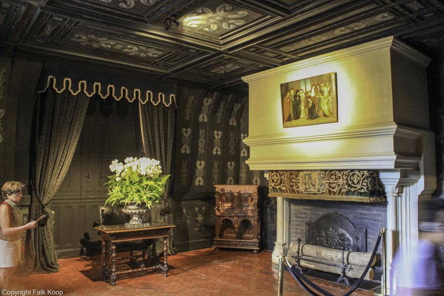 Bild: Château Chenonceau, Schlafzimmer der Luise von Lothringen