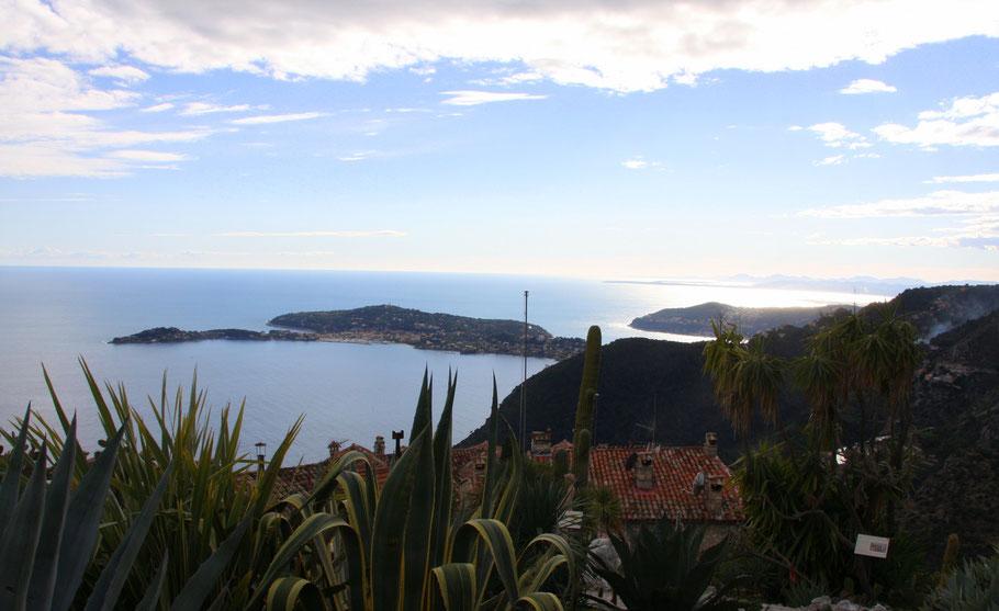 Bild: Blick von exotischen Garten in Èze auf Cap Ferrat