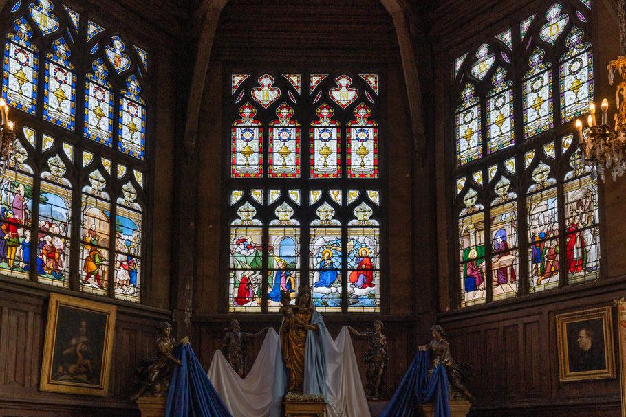 Bild: Honfleur im Département Calvados in der Normandie hier bleiverglaste Fenster in der Église Sainte-Catherine