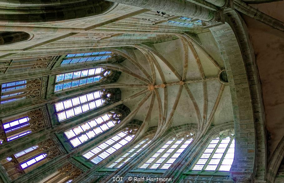 Bild: Gewölbe in Mont-Saint-Michel