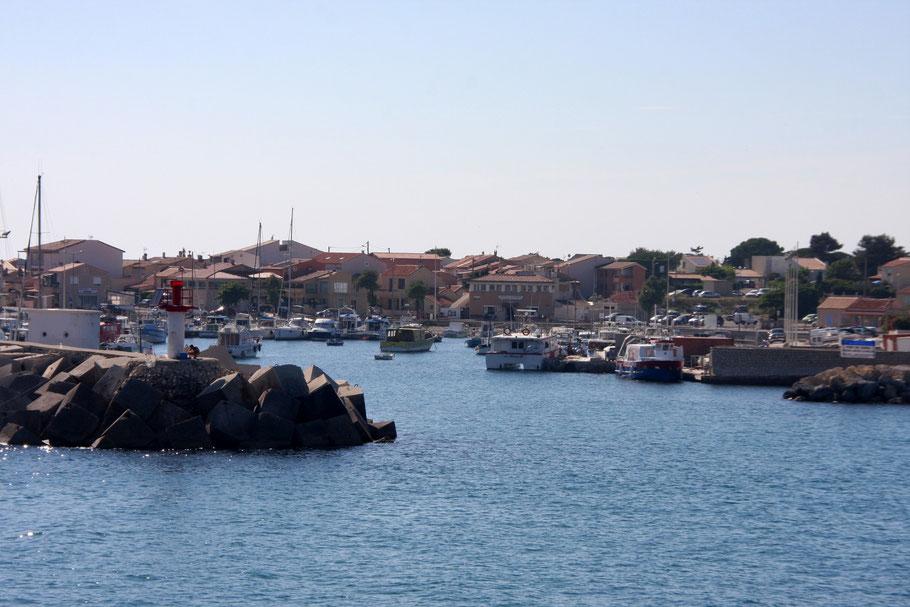 Bild: Einfahrt zum Fischerhafen Carro, Côte Bleu