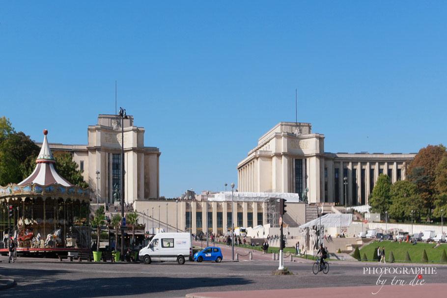 Bild: Blick auf den Trocadéro mit Palais de Chaillot in Paris