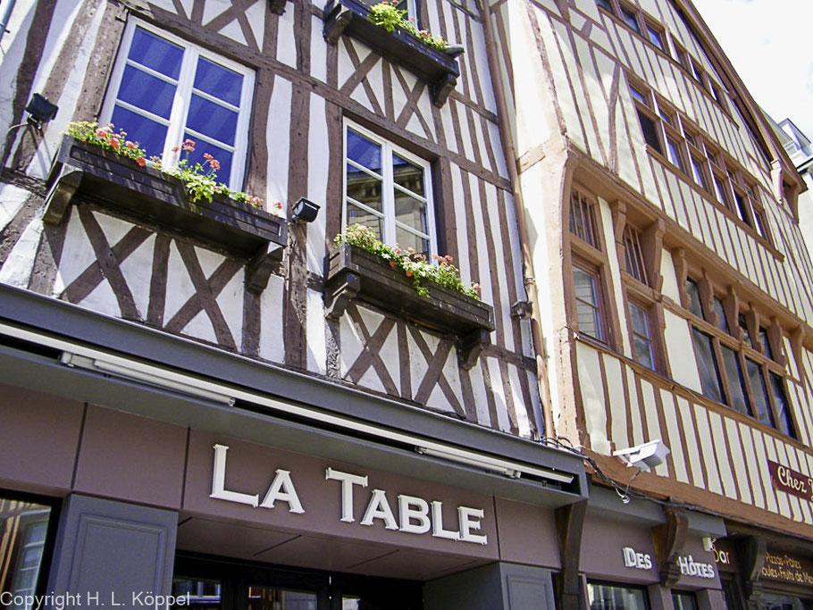 Bild: Fachwerkhäuser in Rouen, Normandie
