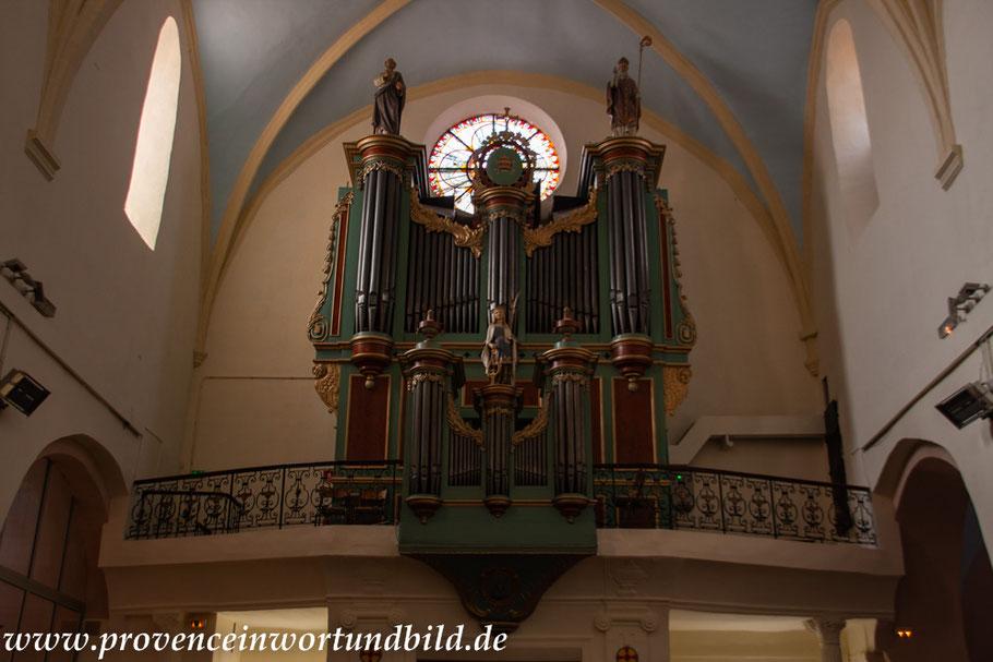 Bild: Orgel in der Eglise Saint Sauveur, Aubagne