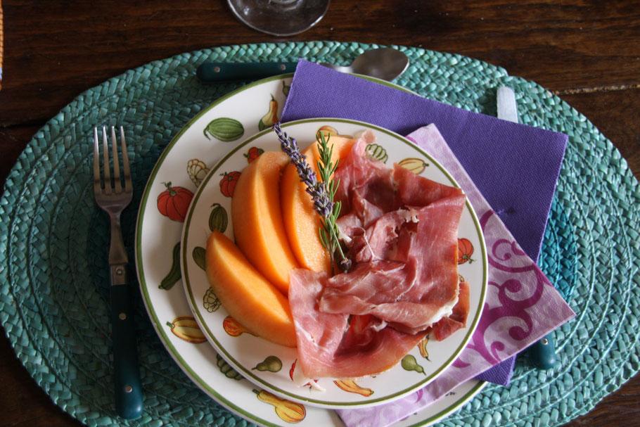 Bild: Melone aus Cavaillon mit Schinken, Provence