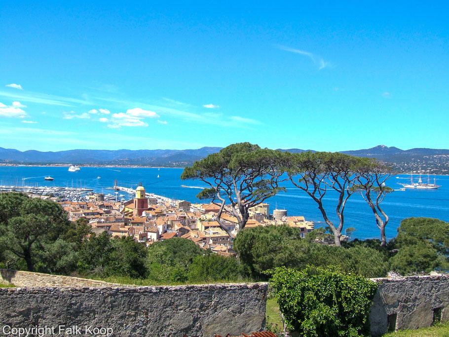 Bild: Blick über St. Tropez von der Citadelle