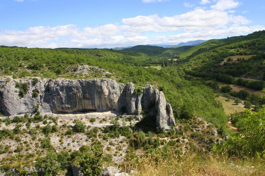 Bild: Ende der Schlucht von Oppedette (Gorges d´Oppedette)