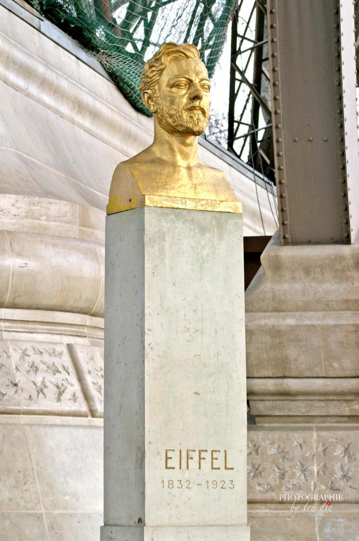 Bild: Büste des Erbauer des Eiffelturm Gustave Eiffel 1832 - 1923