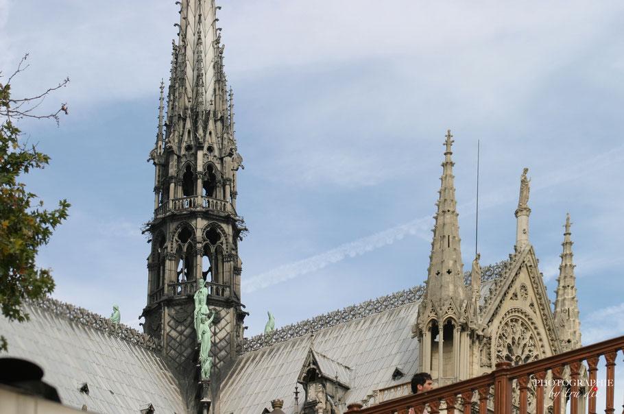 Dieses Foto entstand von der Seine aus. Der wunderbare Turm fiel leider dem Feuer zum Opfer