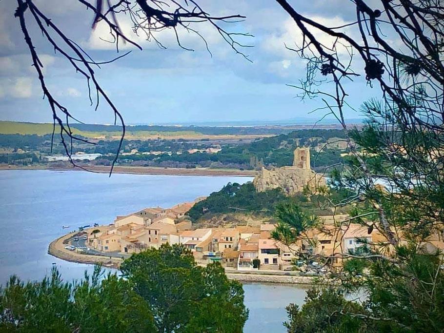 Bild: Blick auf den die Altstadt von Gruissan