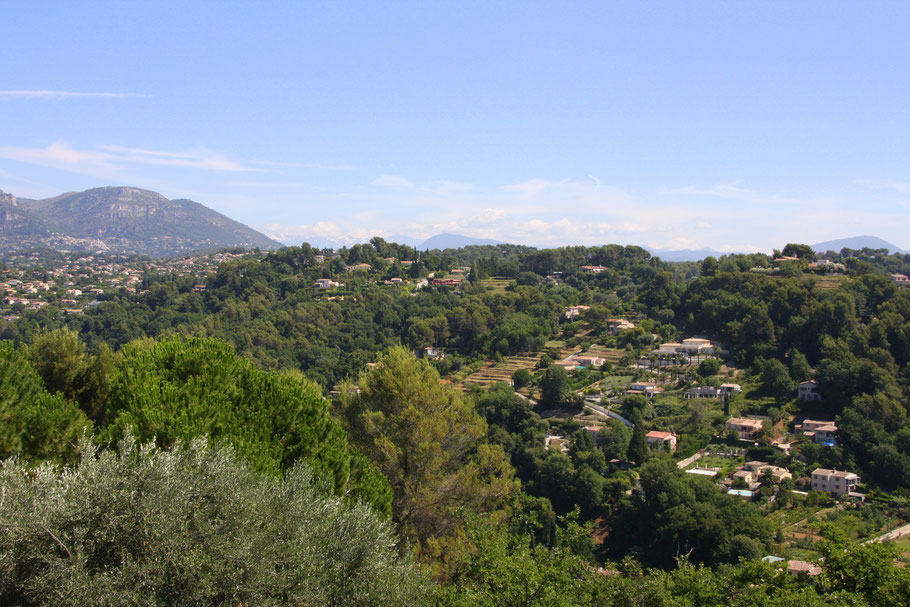 Bild: Blick in die umliegenen Hügel von St.-Paul de Vence