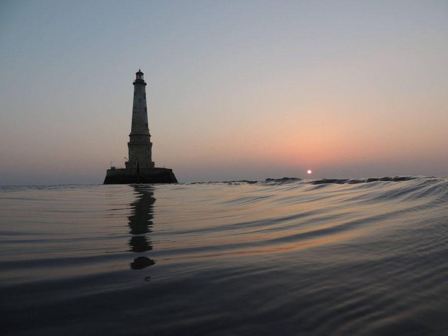 Bild: Phare du Cordouan im Sonnenuntergang