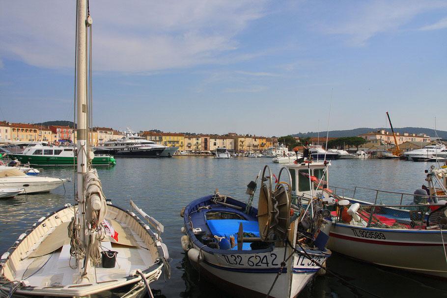 Bild: im Hafen von St. Tropez, Côte d´Azur, Provence