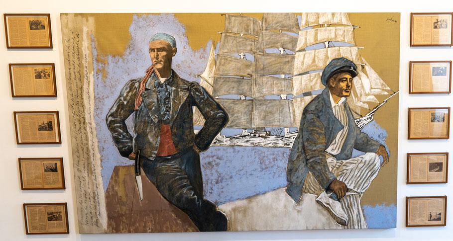 Bild: Gemälde von Jean Le Gac im Musée Picasso in Antibes