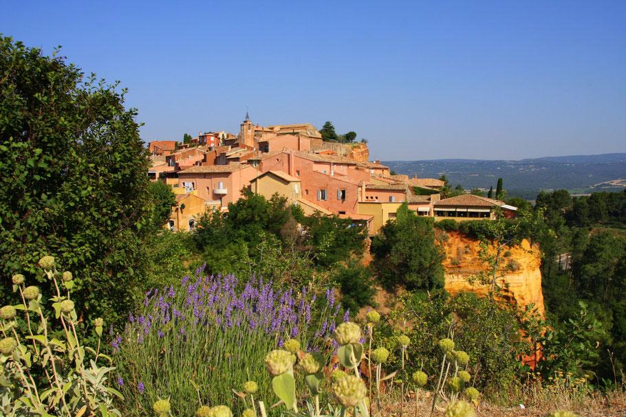 Bild: Blick auf Rossillon Vaucluse