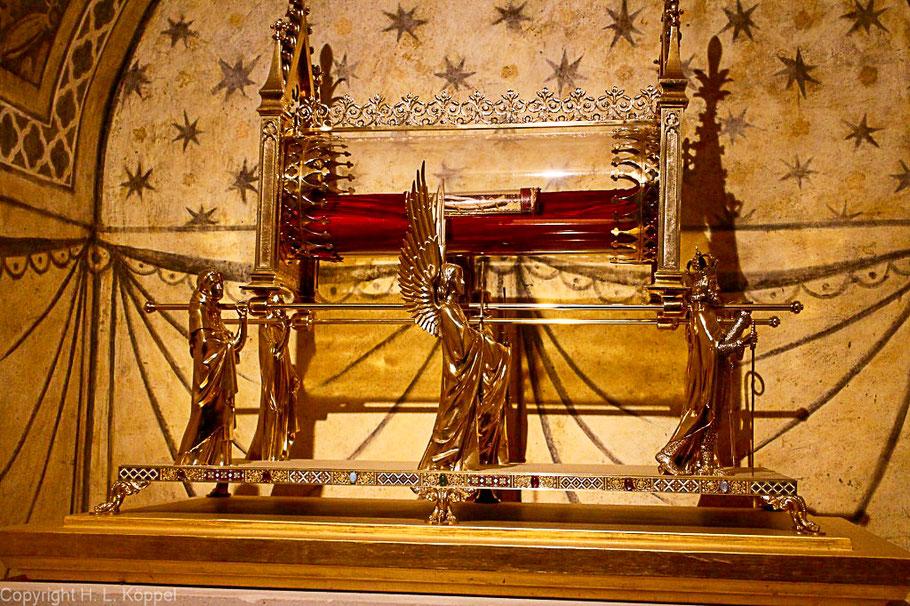 Bild: Reliquien der Maria Magdalena in der Basilika Sainte Marie Madeleine in Vézelay