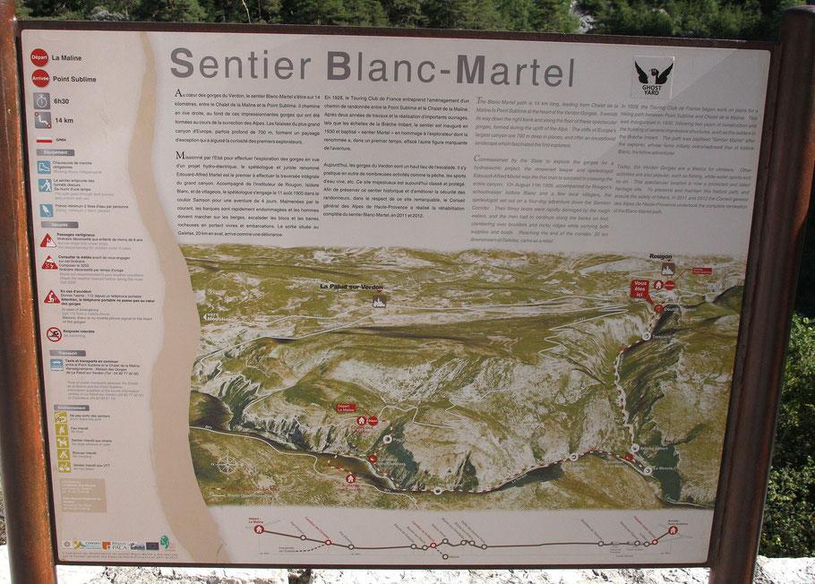 Bild: Wanderung Sentier Blanc-Martel in den Gorges du Verdon