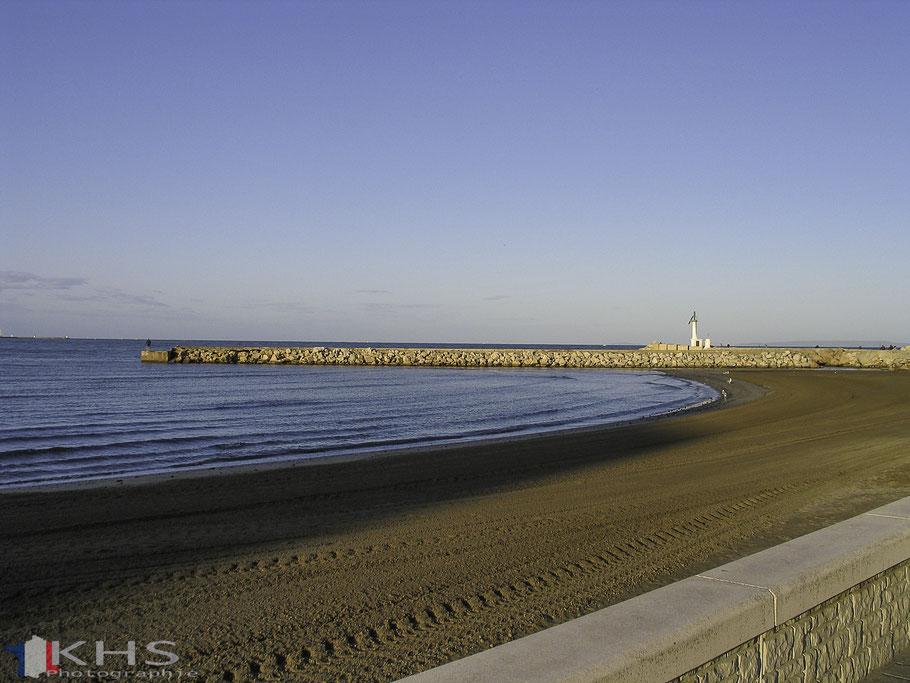 Bild: Morgens am Strand von Le-Grau-du-Roi