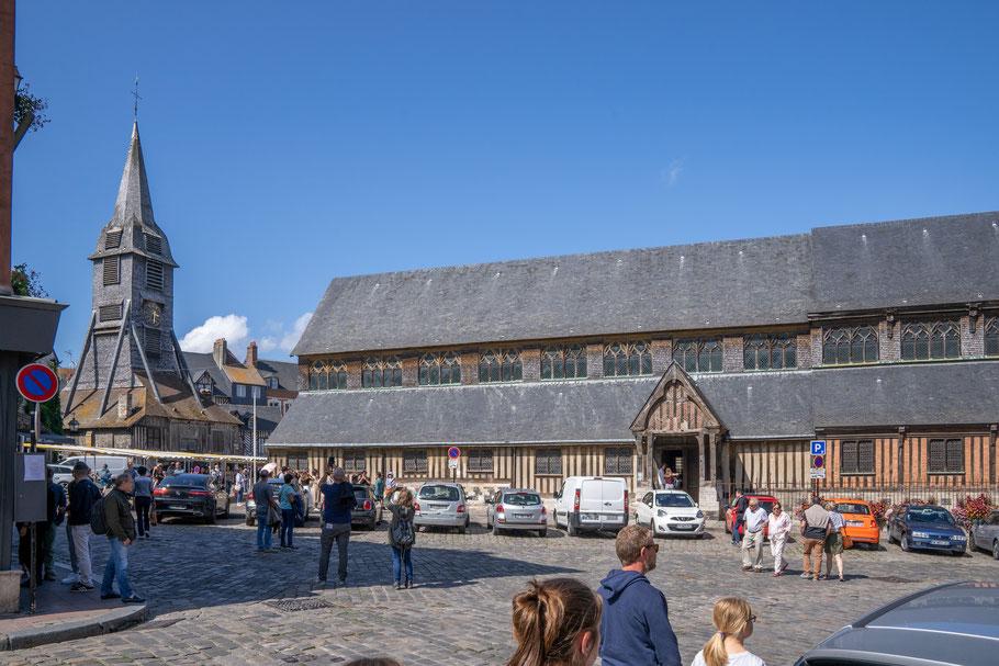 Bild: Honfleur im Département Calvados in der Normandie mit Église Sainte-Catherine und dem Glockenturm