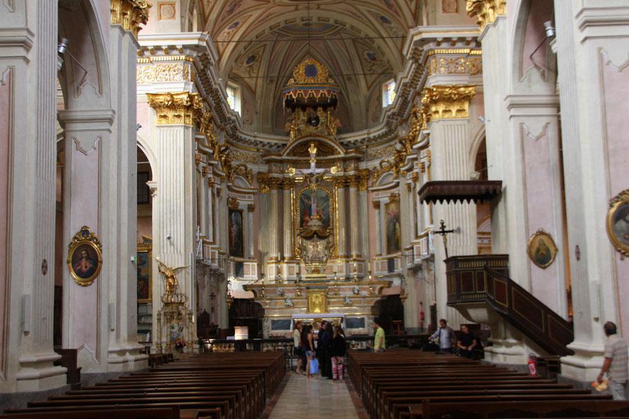 Bild: Sospel, Im Innern der barocken Cathédrale Saint-Michel