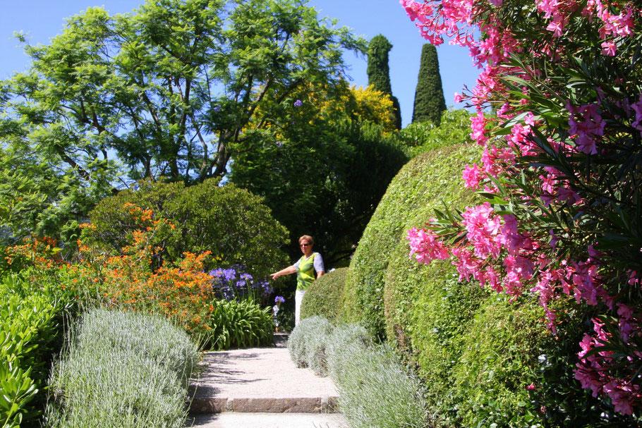 Bild:im florentinischen Garten des Musée Ephrussi de Rothschild